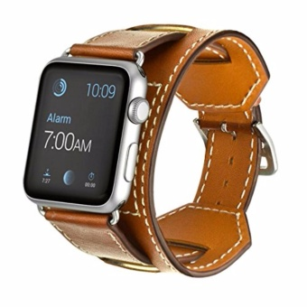 ICHECKEY Apple Watch Band Series 1 Series 2,Pommel horse retromodels 38mm Leather Apple iWatch Smart Watch Sport Band QuickRelease Bracelet Strap Wristband Replacement Watchband - intl