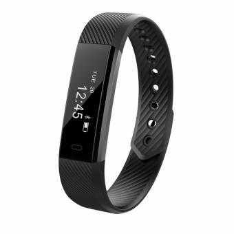 ID115 Bluetooth 4.0 Android Smart Bracelet Pedometer FitnessTracker Step Counter Smart Band Sleep Monitor Sport Wristband -intl