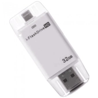 iFlash Drive 32GB External OTG Flash Drive for Apple ProductsiPhone/iPad Air/iPod (White) Price Philippines