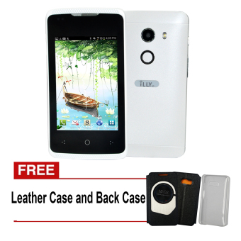 iLLY Mobile T6 128MB (White) with Free Leather Case and Back Case