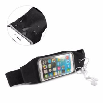 Harga Screen Touch Waterproof Waist Bag Pouch Case for iPhone 6Plus/6sPlus (Black)