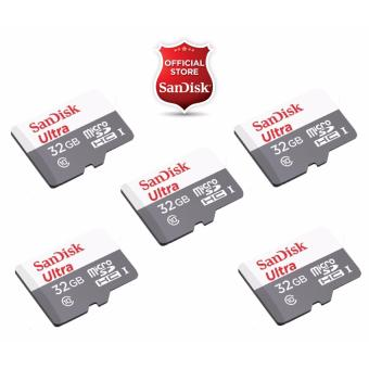 Harga Sandisk Ultra Micro SDHC Class 10 UHS-I 32GB SDSQUNB-032G (SET OF 5)