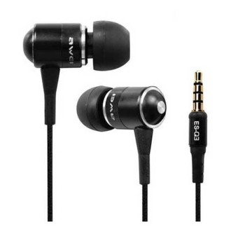Harga Awei ES-Q3 Noise-Isolation In-Ear Headphone (Black)