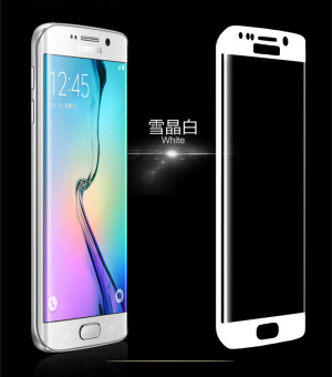 Harga Tempered Glass Screen Protector EDGE FULL HD 9H for Samsung Galaxy S6 Edge (White)