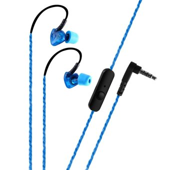Harga PLEXTONE S50 Sweat Proof Sports Earphones with Mic (Blue) - Intl
