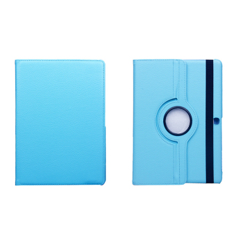 Harga BUILDPHONE PU Leather Flip Pad Cover for Samsung Galaxy Tab A 8.0 SM-T350 T355 P350 P355 (Sky Blue) - intl