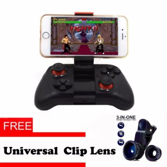 Harga MOCUTE Wireless Game Controller Bluetooth Gamepad Android Joystick PC Controller for iphone iOS Andriod Smartphones with free Universal Clip Lense