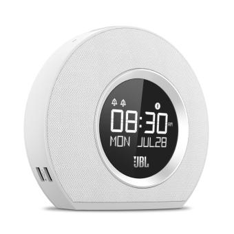 Harga JBL Horizon Bluetooth Clock Radio with USB Charging and Ambient (White)