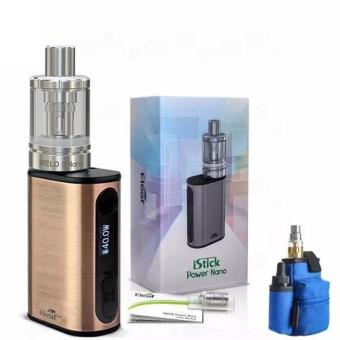 Harga Eleaf iStick Power Nano Kit Electronic Cigarette (Bronze) with Coil Master Pbag