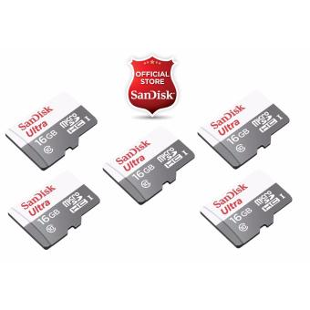 Harga Sandisk Ultra Micro SD Class 10 UHS-I 16GB SDSQUNB-016G (SET OF 5)