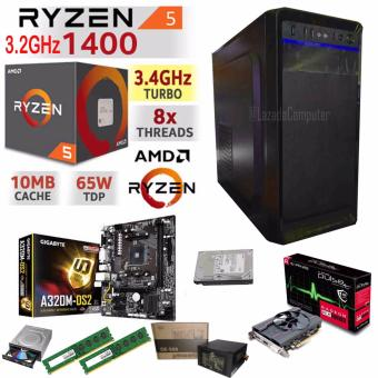 R.E.D Gaming WiFi CPU, AMD RYZEN 5 1400 4-Core 3.2 GHz AM4 65W. Price Philippines