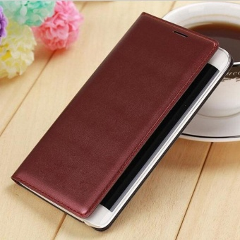 Harga Luxury Flip Leather Case Cover for Samsung Galaxy Note Edge N9150 Burgundy(Burgundy) - intl