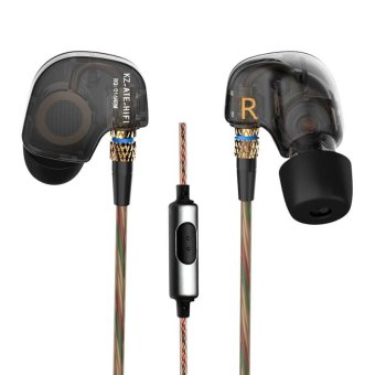 KZ ATE Copper Driver Ear Hook 3.5mm In Ear Earphones HIFI Metal Stereo Sport Headphones Super Bass Noise Isolating With Micrphone Black - intl Price Philippines