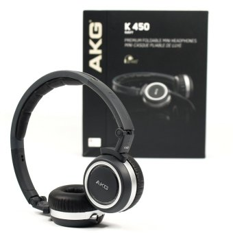 AKG K450 (Navy) High-Performance Foldable Mini Headphone - intl Price Philippines