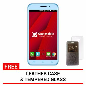 Harga QNET Mobile Jomax 8GB (Light Blue) with FREE Leather Case and Tempered Glass