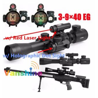 Harga 3-9x40EG Zoomable Lighted Air Rifle Scope with FREE LASER SCOPE