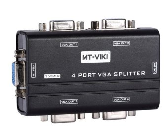 250Mhz VGA Video Splitter Distributor 1 in 4 Out Duplicator support widescreen LCD Monitors MT-VIKI Maituo 2504AS Price Philippines