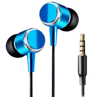 Harga Cool Design Original JMF 3.5mm Earphones Headphones Headset (Blue) - Intl