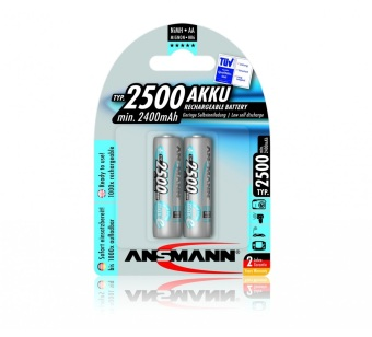 Ansmann NiMH-LSD AA x2 Blister Pack 2500mAh Battery Price Philippines