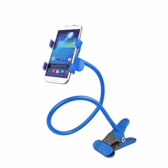 Harga Flexible Lazypod Universal Mobile Phone Holder (Blue)