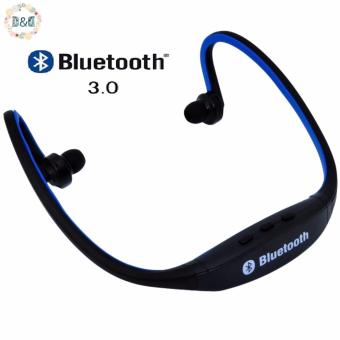 Harga D&D S9 Sports Wireless Bluetooth Stereo Earphone Headphones In-ear Headset Neckband for iPhone 7 Plus/iPhone6S Plus/SE/5S/ for Samsung Android Mobile Phones (Blue)