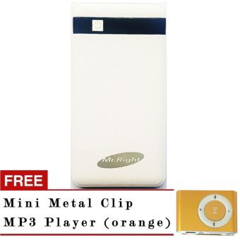 Fortune one 20,000mah powerbank (S100L) white with free Mini metal MP3 orange Price Philippines