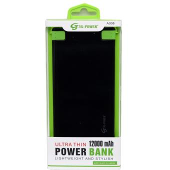 G3G A008 12000mAh Ultra Thin Powerbank (Black) Price Philippines