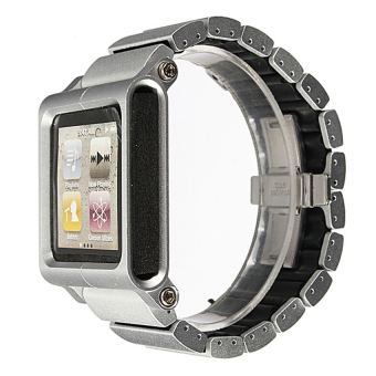 Harga Aluminum LunaTik LYNK Multi-Touch Wrist Watch Band for iPod Nano6thgeneration Silver - intl