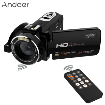 "Andoer HDV-Z20 Portable 1080P Full HD Digital Video Camera Max 24 Mega Pixels 16? Digital Zoom Camcorder 3.0"" Rotatable LCD Touchscreen with Remote Control Support WiFi Connection Unique Hot Shoe Design Outdoorfree - intl Price Philippines"