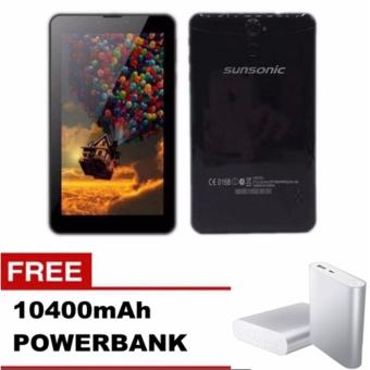 "Sunsonic L09A 7"" 3G Dual Sim Cellular Tablet 8GB with Free 10400mah Power Bank (Black) Price Philippines"