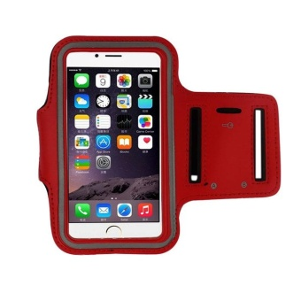 Harga Armband Gym Running Sport Arm Band Cover Case For iphone 6 4.7 Inch Red - intl
