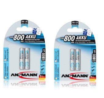 Ansmann NiMH AAA 800 mAh x 2 Rechargeable Battery Bundle of 2 Price Philippines