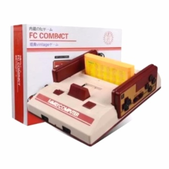 Harga FC Compact Classic Family Computer with Built in 500 Games and 132 Games External Game Cartridge