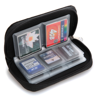 Harga Micro SD Memory Card Storage Carrying Pouch Case Holder Wallet -