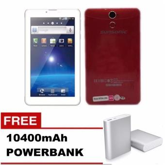 "Sunsonic L08A 7"" 3G Dual Sim Cellular Tablet 8GB with Free 10400mah Power Bank (Red) Price Philippines"