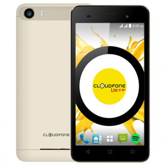 Harga Cloudfone Thrill Boost 8GB (Gold) with Free Spotify Earphones and Back Cover Case