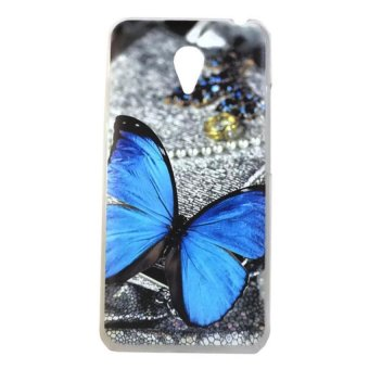 Harga Blue Butterfly Design Hard Case for Meizu M2 Note (Multicolor)