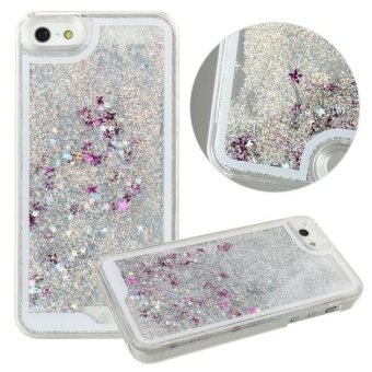 Harga Bling Glitter Stars Fantasy Shiny Case Cover For iPhone 5 5s White - intl
