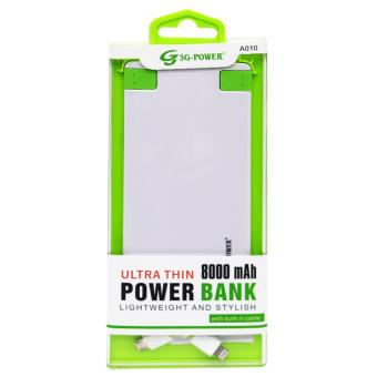 G3G A010 8000mAh Ultra Thin Powerbank (White) Price Philippines