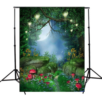 Harga 5x7FT Tale World Green Forest Photography Background Backdrop For Studio Props