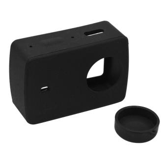 Silicone Protective Cover Protector Case Shell Skin Lens Cap Accessory for Xiaomi Yi XiaoYi 2 Ⅱ 4K Camera Black - intl Price Philippines
