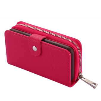 Harga Separable Zipper Wallet Phone Case for Iphone 6 (Red) - intl