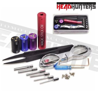 Harga Head Hunters Magic Stick CW toolbox pre coil tool box master vape (Multicolot)