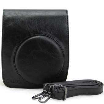 Harga PU Leather Camera Case Bag Holder For Fuji FUJIFILM Instax Mini90 (Black) - Intl