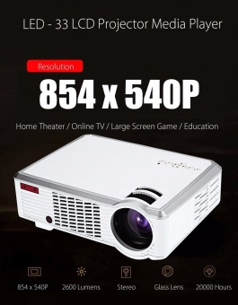 LED - 33 LCD Projector Media Player 2600 Lumens 854 x 540 Pixels US PLUG - intl Price Philippines