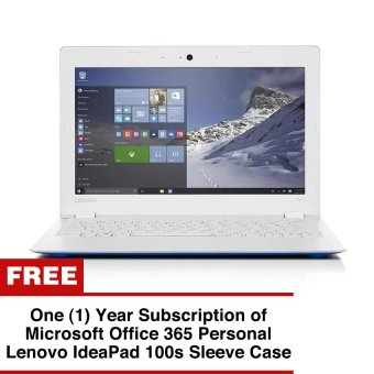 "Lenovo Ideapad 100S-11-IBY 11.6"" Intel Atom Z3735F 2GBBlueWindows10 Price Philippines"