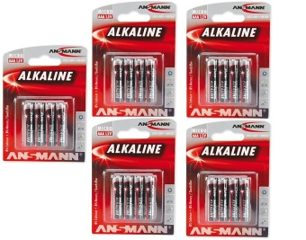 Ansmann Red Alkaline Battery AAA 1.5V x4 Blister Pack Bundle of 5 Price Philippines