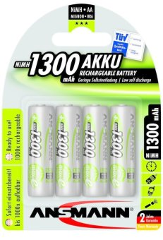 Ansmann NiMH AA 1300 mAh Rechargeable Battery Blister Pack of 4 Price Philippines