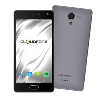 Harga CloudFone Thrill Access 16GB (Grey) with Free Spotify Earphones and Protective Cover