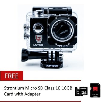 Lazytech 4K 30FPS 1080p 30/60FPS WiFi Action Pro 16MP Sports Camera (Black) with Free Strontium Micro SD Class 10 16GB Card with Adapter (Black) Price Philippines